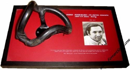 1967 Pedro Rodriguez Protos F2 Enna Crash Steering Wheel