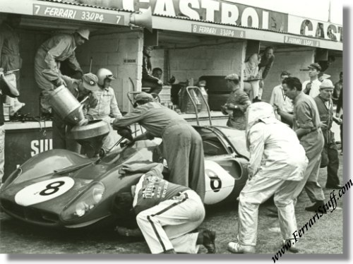ferrari 330 p3 4. Vintage 1967 photo of Ferrari