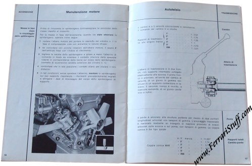 1965 alfa romeo giulia sprint gta owners manual italian. Black Bedroom Furniture Sets. Home Design Ideas