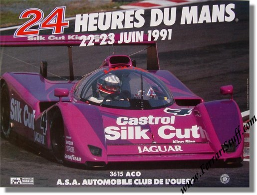 original 1991 24 hours of le mans poster lm1991. Black Bedroom Furniture Sets. Home Design Ideas