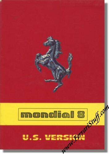 1981 ferrari mondial 8 owners manual us version 215 81 215 81. Black Bedroom Furniture Sets. Home Design Ideas