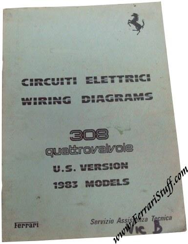 1983 Ferrari 308 Qv Quattrovalvole Us Version Wiring