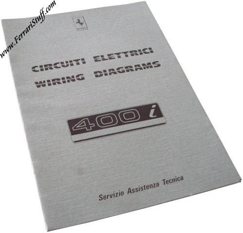1983 Ferrari 400i Wiring Diagrams Manual 29183