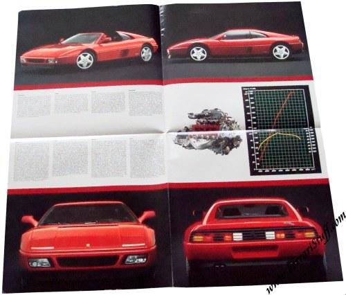 1989 Ferrari 348 Tb And Ts Brochure 57589 4m05 90 57589 4m