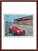 Original Art Print of Alberto Ascari winning the GP of Germany 1952 by Antonio de Giusti