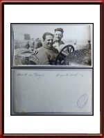 Vintage 1926 Photo of Enzo Ferrari with Giulio Masetti Targa Florio 1926