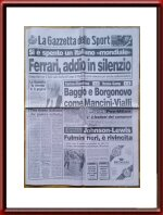 Original August 17 1988 Issue of La Gazetta dello Sport on the death of Enzo Ferrari - Vintage Newspaper