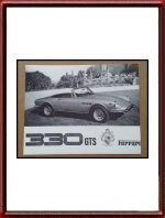 1966 Ferrari 330 GTS Sales Sheet Hollywood Sports Cars
