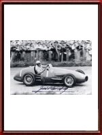Jose Froilan Gonzales signed photo Ferrari 625 German Grand Prix 1954