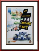 Original 1997 Monaco Grand Prix Race Poster - Limited Edition