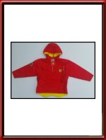 Red and Yellow Ferrari Anorak in Kids Sizes