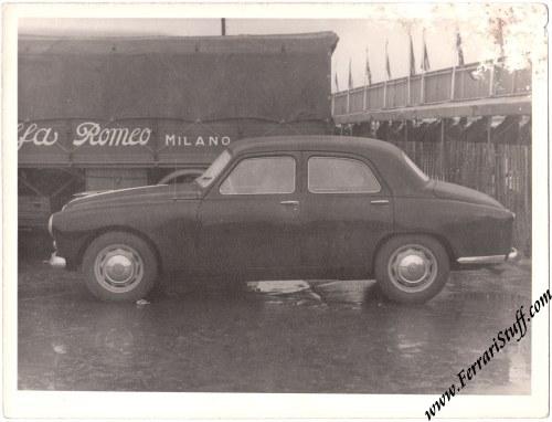 Vintage 1951 Photo Of The Alfa Romeo 1900 Berlina Of Giuseppe Farina